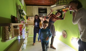 A family in the kitchen
