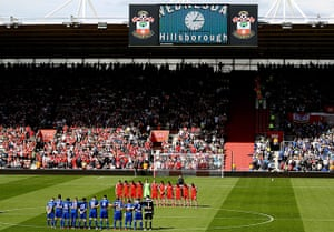Hillsborough: Minute's silence at Southampton