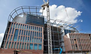 Francis Crick Institute construction site London