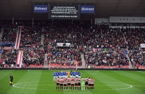 Hillsborough: A message of support at Sunderland