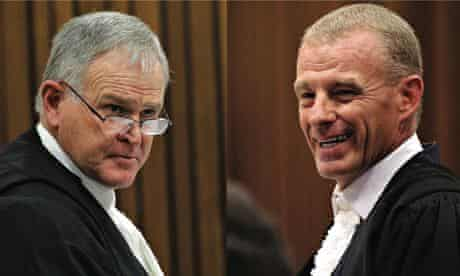 Barry Roux and Gerrie Nel are formidable courtroom opponents