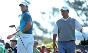 McIlroy and Knox tee off.