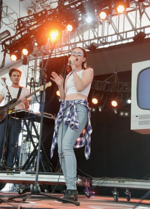 Singer Isabella Manfredi of The Preatures performs with Classix