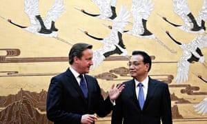 David Cameron meets Chinese premier Li Keqiang during his Beijing trip