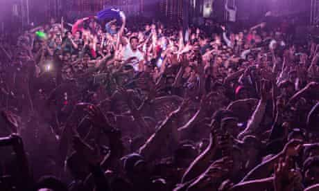 Egyptian youth at  a concert