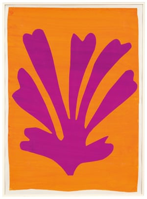 Violet Leaf on Orange Background (Palmette), 1947