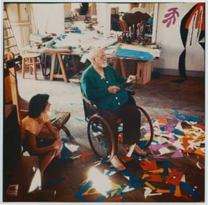 Henri Matisse, pictured in his studio