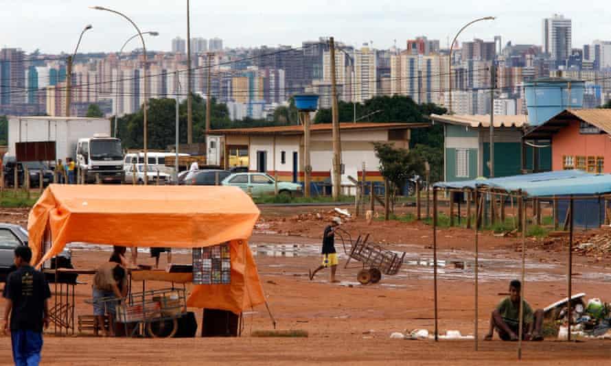 The Vila Estrutural slum near  Brasilia