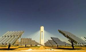 World's largest solar energy plant, Sanlucar la Mayor