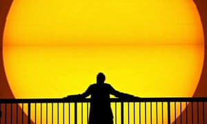 A giant sun on display in Tate's Turbine Hall