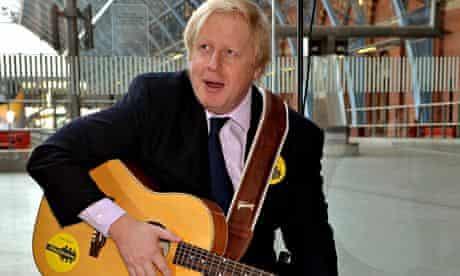 Boris Johnson launches busking campaign