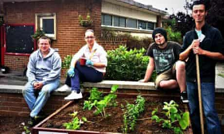 Kirkstall Community Garden workers make use of unused land at a local pub in Leeds