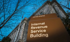 This photo taken April 13, 2014 shows the headquarters of the Internal Revenue Service (IRS) in Washington at daybreak.