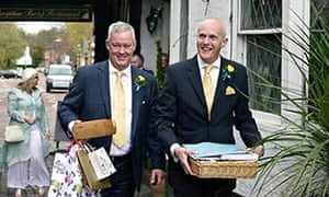 Canon Jeremy Pemberton (left) and Laurence Cunnington defied Church of England ban on gay marriage