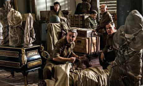 A still from the film The Monuments Men starring and directed by George Clooney