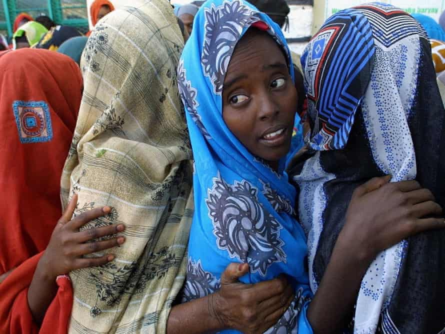 Women in Hargeisa, which is regarded as the capital of the unrecognised state of Somaliland.