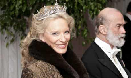 Prince and Princess Michael of Kent at a state banquet in honour of the president of Brazil, 2006