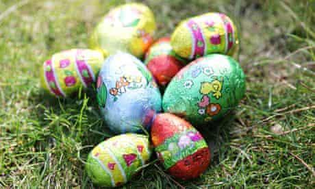 Mini chocolate Easter eggs