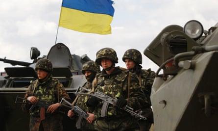 Ukrainian soldiers.