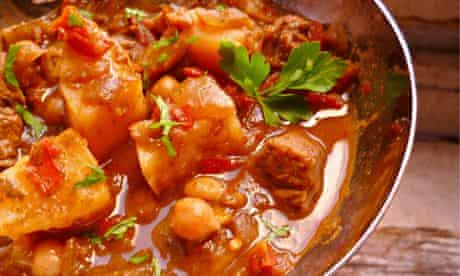 Leftover lamb in a Moroccan-style harira sauce