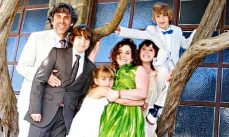 Novelist Ayelet Waldman with husband Michael Chabon and kids