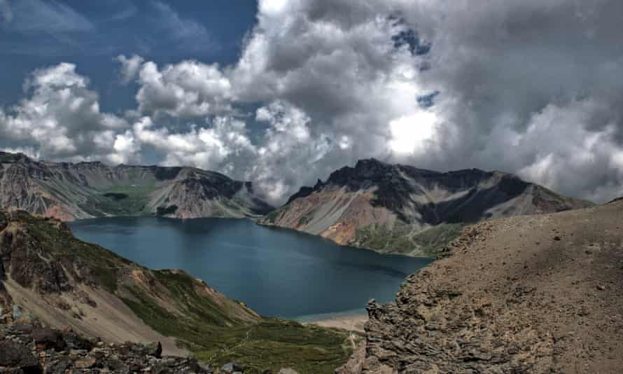 Mount Paektu and Lake Chon in North Korea