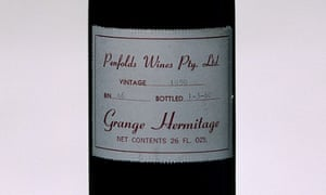 A bottle of 1959 Penfolds Grange