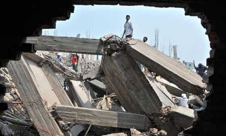 Collapsed Rana Plaza building