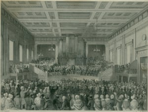 ASI 175th birthday: Anti-Slavery conference at Exeter Hall, 1841