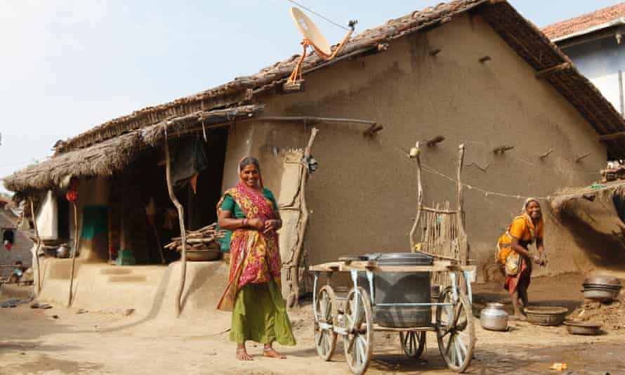 Local residents in the village of Khun near Dholera.