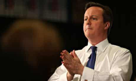 David Cameron in Cheadle, Manchester