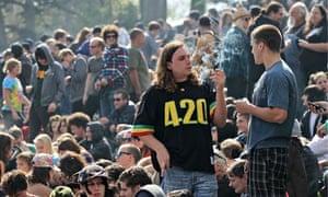 Enthusiasts Gather For Mass Pot-Smoking Celebration