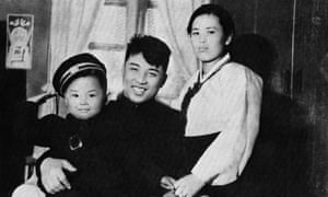 Kim Jong-un's grandfather (centre), the founder of North Korea, Kim Il-sung, is sometimes mentioned as the source of inspiration for grandson's style.