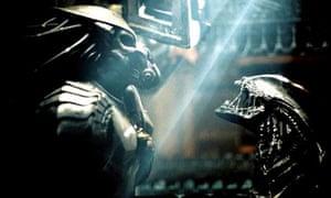 Best of enemies … two franchises square off in the bug-eyed Alien vs Predator.