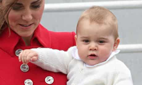 The Duchess of Cambridge with Prince George