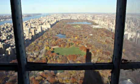 view from New York's tallest residential skyscraper, One57 on to Central Park