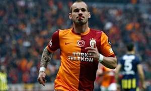 Galatasaray's Wesley Sneijder