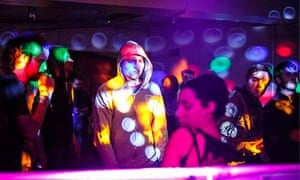 An illegal rave, east London, 2014
