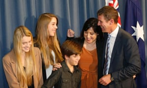 Mike Baird and family
