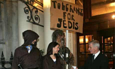 A Jedi knights demonstration in 2012