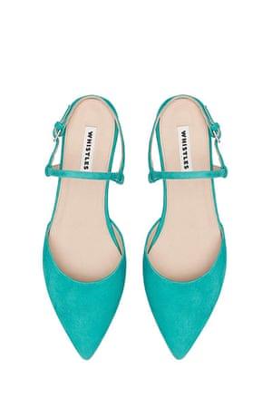 Fashion wish list: green flat heeled shoes