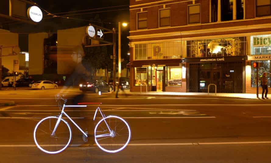 Mission Lumen retro-reflective bike