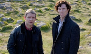 The Hound of the Baskervilles. Cumberbatch and Freeman