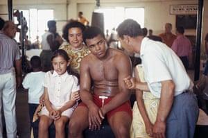 Danny Lyon: Muhammad Ali posed with fans, Fifth Street Gym, Miami Beach