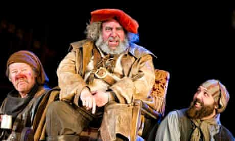 Joshua Richards, Antony Sher and Youssef Kerkour in Henry lV Parts l and ll