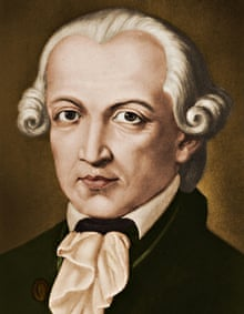 KANT, Immanuel - portrait.  Philosopher, born in Konigsberg, Germany. (1724-1804). Colourised