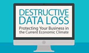 Destructuve data loss infographic