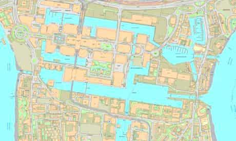 Docklands map