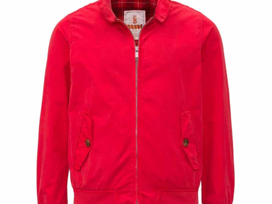 Red jacket £205 Baracuta.com