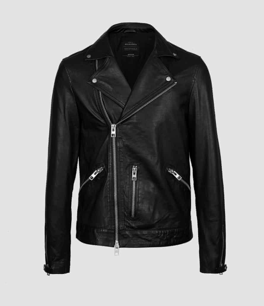 Hemsley leather biker jacket, £358, allsaints.com